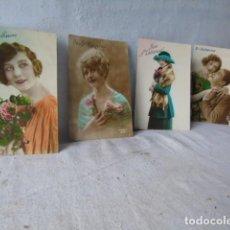 Postales: POSTAL ANTIGUA FIESTA SANTA CATARINA SAINTE CATHERINE LOTE DE 4 POSTALES AÑOS 20 - 30. Lote 201104690