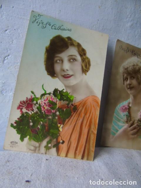 Postales: postal antigua fiesta santa catarina sainte catherine lote de 4 postales años 20 - 30 - Foto 2 - 201104690