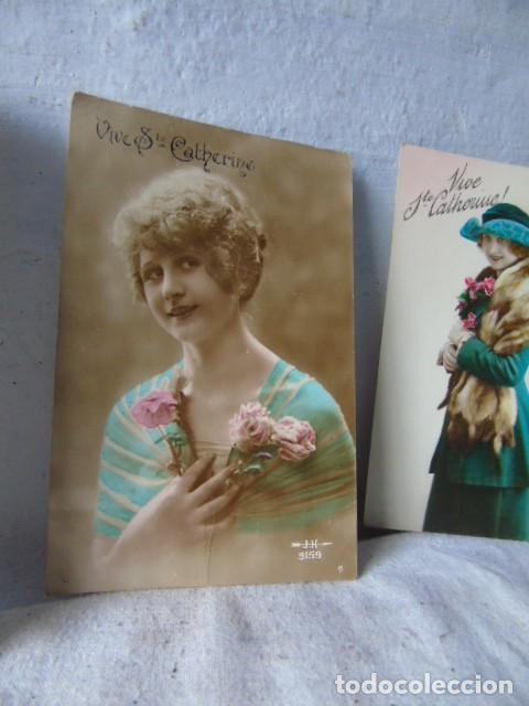Postales: postal antigua fiesta santa catarina sainte catherine lote de 4 postales años 20 - 30 - Foto 3 - 201104690
