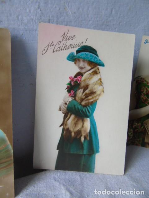 Postales: postal antigua fiesta santa catarina sainte catherine lote de 4 postales años 20 - 30 - Foto 4 - 201104690