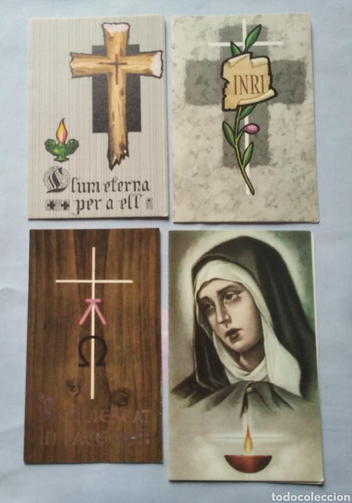 Postales: Lote 20 recuerdos recordatorios de defunción años desde 1939 hasta 1983 - Foto 5 - 201132611