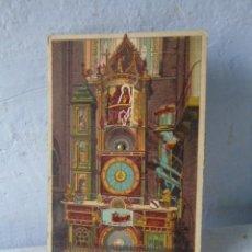 Postales: POSTAL ANTIGUA RELOJ ASTRON STRASBURGO POSTAL CON MOVIMIENTO. Lote 201192978