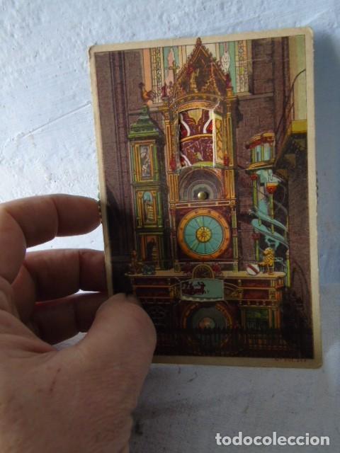 Postales: POSTAL ANTIGUA RELOJ ASTRON STRASBURGO POSTAL CON MOVIMIENTO - Foto 2 - 201192978
