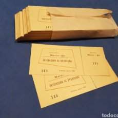 Postales: 120 INVITACIONES DE BODA 1961 PARA DESAYUNAR. Lote 201795505