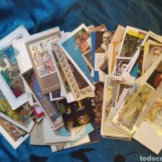 Postales: LOTE 100 ESTAMPAS, RECUERDOS REGIOSOS, NAVIDAD, COMUNION. Lote 202265961