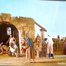 Postales: LA PASSIÓ D'OLESA DE MONTSERRAT. 1165 EL NNACIMIENTO DE JESÚS. ESCUDO DE ORO. NUEVA. COLOR. Lote 222586923
