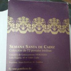 Postales: SEMANA SANTA GADITANA, COLECCIÓN DE 72 POSTALES INÉDITAS. Lote 202707227