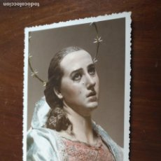 Postales: ANTIGUA POSTAL FOTOGRAFICA - SEMANA SANTA MURCIA VIRGEN DOLOROSA DE SALZILLO. Lote 203209223