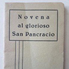 Postales: NOVENA A SAN PANCRACIO IMPRENTA PULCRA BARCELONA 1934. Lote 205594790