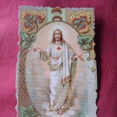 Postales: PRECIOSA ESTAMPA SAGRADO CORAZÓN DE JESÚS. PARROQUIA DE SAN SEBASTIÁN. GUARDIA DE HONOR. Lote 205707281