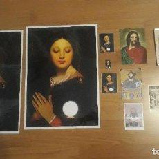 Postales: LÁMINAS GRANDES, 10 ESTAMPAS VIRGEN Y JESUCRISTO, UNA DE ELLAS CON PORTARETRATOS. Lote 89661832