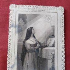 Postales: PRECIOSA ESTAMPA CON PUNTILLA. LA CONFIANZA RELIGIOSA.. Lote 205732731