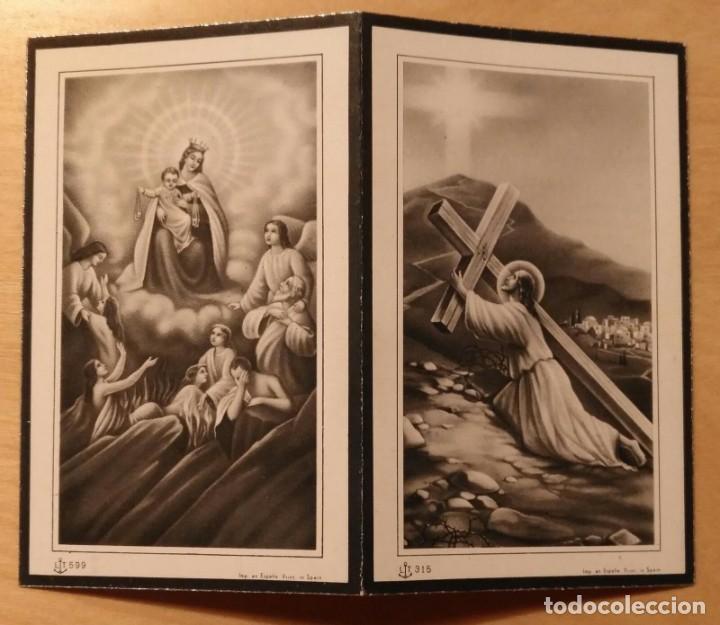 RD 29 ANTIGUA ESTAMPA RECORDATORIO DEFUNCIÓN - ALCOLETGE, FEBRERO 1955 - IMO. PETANÁS LÉRIDA (Postales - Postales Temáticas - Religiosas y Recordatorios)
