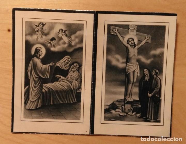 RD 35 ANTIGUA ESTAMPA RECORDATORIO DEFUNCIÓN CON FOTO - BENET (LÉRIDA) JULIO 1953 - IMP. GÜELL (Postales - Postales Temáticas - Religiosas y Recordatorios)