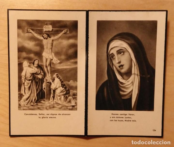 RD 38 ANTIGUA ESTAMPA RECORDATORIO DEFUNCIÓN - LÉRIDA, JUNIO 1953 - IMP. MIRÓ (Postales - Postales Temáticas - Religiosas y Recordatorios)