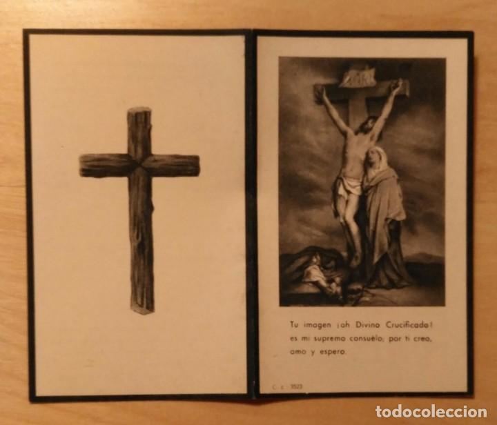 RD 40 ANTIGUA ESTAMPA RECORDATORIO DEFUNCIÓN - ALCOLETGE (LÉRIDA) OCTUBRE 1953 - A.G. IBERIA (Postales - Postales Temáticas - Religiosas y Recordatorios)