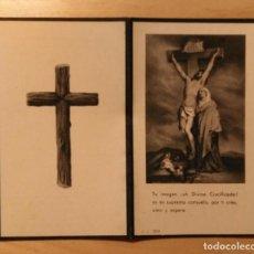 Postales: RD 40 ANTIGUA ESTAMPA RECORDATORIO DEFUNCIÓN - ALCOLETGE (LÉRIDA) OCTUBRE 1953 - A.G. IBERIA. Lote 206373461
