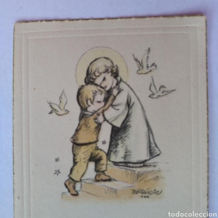 ESTAMPA RECUERDO RECORDATORIO COMUNION ILUSTRA FERRANDIZ 1957 (Postales - Postales Temáticas - Religiosas y Recordatorios)