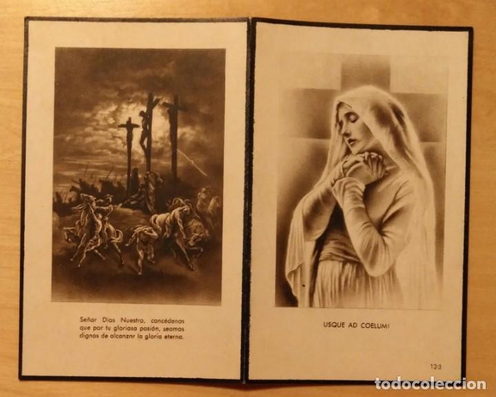 RD 44 RECORDATORIO DEFUNCIÓN - SERVICIO PRESTADO POR EL OCASO, S.A. - LÉRIDA, FEBRERO 1952 (Postales - Postales Temáticas - Religiosas y Recordatorios)