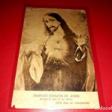 "Postales: BELLA POSTAL RELIGIOSA ANTIGUA "" SAGRADO CORAZÓN DE JESÚS "". Lote 206831498"