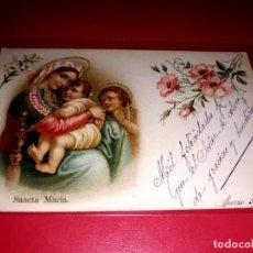 Postales: BELLA POSTAL RELIGIOSA ANTIGUA ESCRITA 1909. Lote 206832042