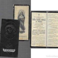Postales: RECORDATORIO DEFUNCIÓN AÑO 1905- BARCELONA. Lote 206887017