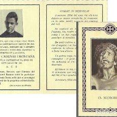 Postales: RECORDATORIO DEFUNCIÓN AÑO 1948- PRESIDENT CONGREGACIÓ MENOR DE MARIA IMMACULADA. Lote 206887336
