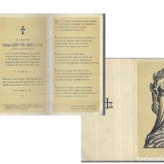 Postales: RECORDATORIO DEFUNCIÓN AÑO 1957 * MOSSÈN JOSEP POU BATLLE * GIRONA. Lote 206893505