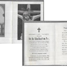 Postales: RECORDATORIO DEFUNCIÓN AÑO 1962 * RVD. ALFONS BOSCH VENTÍ, PVRE. * GIRONA. Lote 206894041