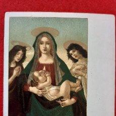 Postales: POSTAL ANTIGUA ESTAMPA LA MADONNA ANGELI ITALIA REVESO SIN PARTIR ORIGINAL PRJ 61. Lote 207277268
