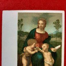 Postales: POSTAL ANTIGUA ESTAMPA VIRGEN DEL CARDELLINO ITALIA REVESO SIN PARTIR ORIGINAL PRJ 64. Lote 207277536