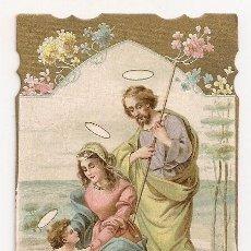 Postales: ANTIGUA ESTAMPA SAGRADA FAMILIA - AÑO 1913 - TOMA DE POSESIÓN DE D. ELOY VILLENA GÓMEZ. Lote 207980467