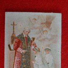 Cartes Postales: ANTIGUA ESTAMPA RELIGIOSA PUBLICIDAD FABRICA CHOCOLATES GRANELL ASTORGA ORIGINAL ESJ 646. Lote 209813880