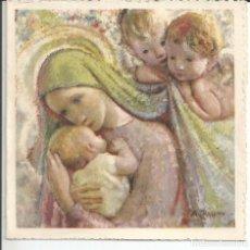 Postales: RECORDATORIO NACIMIENTO *A. ZAMBRINO* - AÑO 1952 - DIPTICO, 11X11 CM.. Lote 210041430