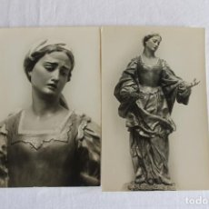 Postales: 2 POSTALES SALZILLO MURCIA, LA VERONICA 1958. Lote 210098291