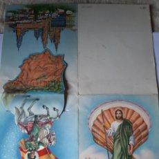 Postales: CY Z 3181/9 APOSTOL SANTIAGO MATAMOROS A CABALLO DESPLEGABLE SANTIAGO DE COMPOSTELA Ñ. Lote 210209135