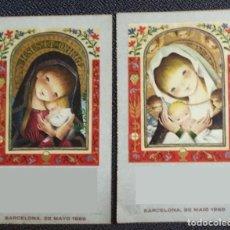 Postales: P099 - FERRÁNDIZ EDIC. SUBI SERIE 4286 1 Y 3- PAPEL VEGETAL-12,3X7,7 CM - CANTOS DORADOS - 1966. Lote 210448172