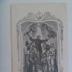 Postales: ESTAMPA ANTIGUA DE SAN FRANCISCO, RECUERDO BODAS DE PLATA DE SACERDOTE. MADRID 1921- 1946. Lote 210564502