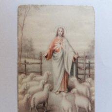 Postales: ESTAMPA RELIGIOSA, SAGRADO CORAZON DE JESUS, AÑO 1943. Lote 210718152