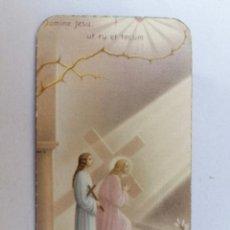 Postales: ESTAMPA RELIGIOSA, JESUS CON LA CRUZ A CUESTAS. Lote 210718340