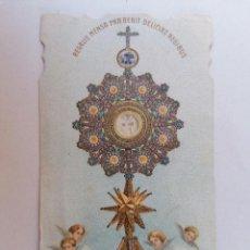 Postales: ESTAMPA RELIGIOSA, LA SAGRADA FORMA DE EL ESCORIAL. Lote 210718724
