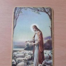 Postales: ESTAMPA RELIGIOSA ANTIGUA CON BORDE DORADO, IMPRESO EN ITALIA. 10.5 X 6 CMS.. Lote 210963326