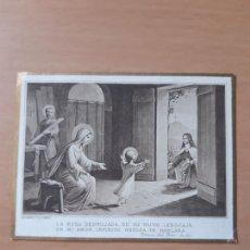 Postales: ESTAMPA RELIGIOSA ANTIGUA TERESA DE JESÚS.BOUMARD FILS PARÍS. 8.5 X 6.5 CMS.. Lote 210963874