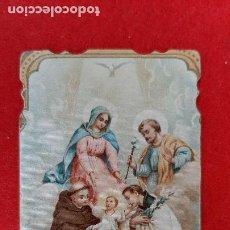 Postales: ANTIGUA ESTAMPA RELIGIOSA EL NIÑO JESUS Y VARIOS SANTOS ORACION ORIGINAL ESJ 817. Lote 211505384