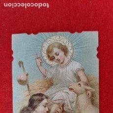 Postales: ANTIGUA ESTAMPA RELIGIOSA EL NIÑO JESUS ORIGINAL ESJ 818. Lote 211505430