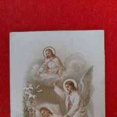 Postales: ANTIGUA ESTAMPA RELIGIOSA RECUERDO DEFUNCION DE UNA NIÑA DE 13 MESES ORIGINAL ESJ 820. Lote 211505605