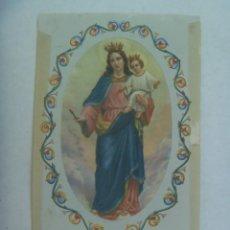 Postales: ESTAMPA ANTIGUA DE LA VIRGEN MARIA AUXILIADORA . NOVENA. Lote 211505889