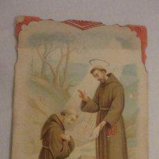 Postales: ANTIGUA ESTAMPA RELIGIOSA.SAN FRANCISCO ASIS.GORLA PROVIC.GEN. 1905. Lote 211507116