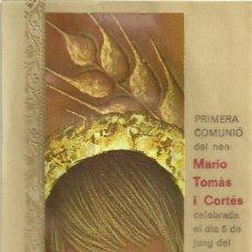 Postais: ESTAMPA RECORDATORIO PRIMERA COMUNION. PARROQUIA NTRA SRA.DE LA SOLEDAT. IGUALADA, 1969. Lote 211586270