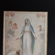 Postales: ANTIGUA ESTAMPA RELIGIOSA VIRGEN MARIA ORIGINAL ESJ 1154. Lote 211599370